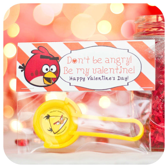 Angry Birds Valentines Printable PDF