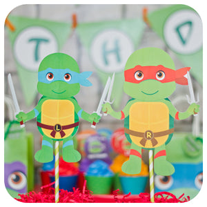 Teenage Mutant Ninja Turtle Centerpieces Printable PDF