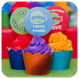 Teenage Mutant Ninja Turtle Cupcake Wrappers and Toppers Printable PDF