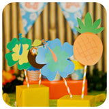 Hawaiian Luau Centerpieces Printable PDF