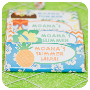 Hawaiian Luau Candy Bar Wrappers Printable PDF