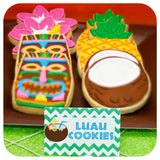 Hawaiian Luau Food Tent Labels Printable PDF