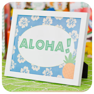 Hawaiian Luau Signs Printable PDF