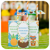 Hawaiian Luau Juice Box Wrappers Printable PDF