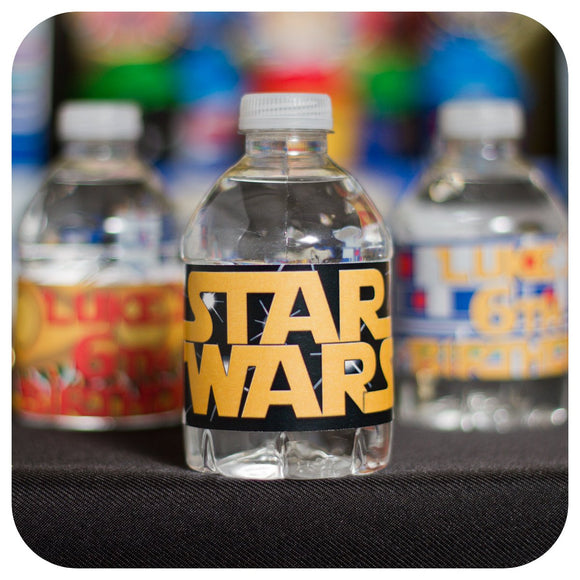 Star Wars Water Bottle Wrappers Printable PDF