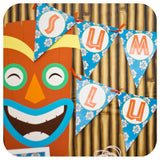 Hawaiian Luau Background Printable JPEG