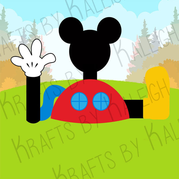 Mickey Mouse Clubhouse Background Printable JPEG