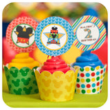 Mickey Mouse Clubhouse Cupcake Wrappers and Toppers PDF