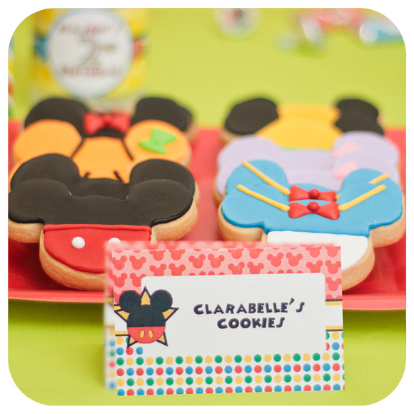 Mickey Mouse Clubhouse Food Tent Labels Printable PDF