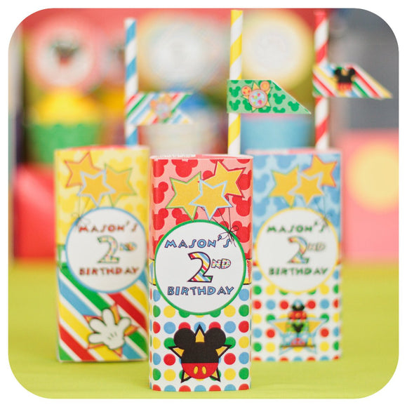 Mickey Mouse Clubhouse Juice Box Wrappers Printable PDF