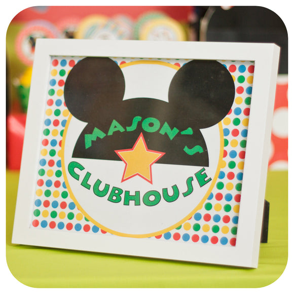 Mickey Mouse Clubhouse Signs Printable PDF