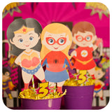 Supergirl Centerpieces Printable PDF