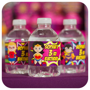 Supergirl Water Bottle Wrappers Printable PDF