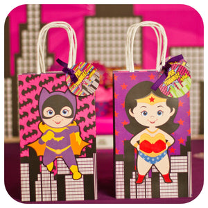 Supergirl Gift Bags Printable PDF