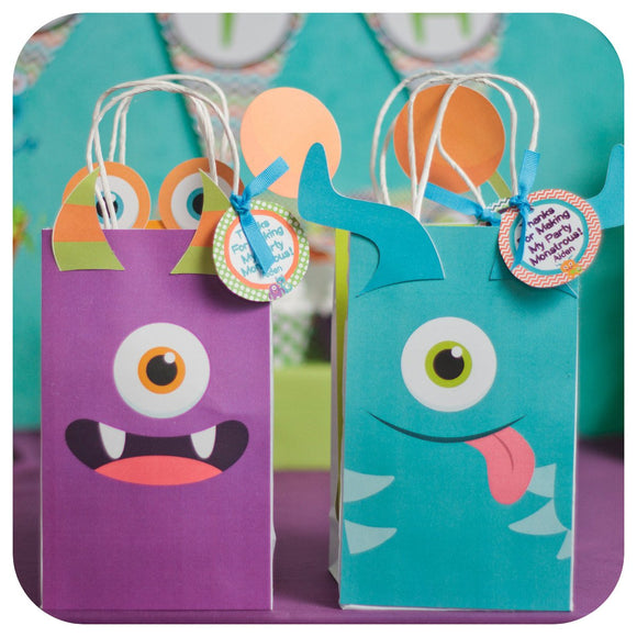 Little Monsters Gift Bags Printable PDF