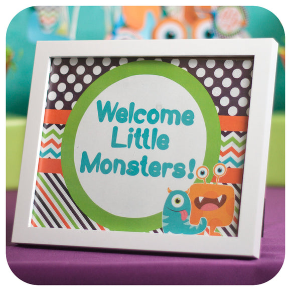 Little Monsters Signs Printable PDF