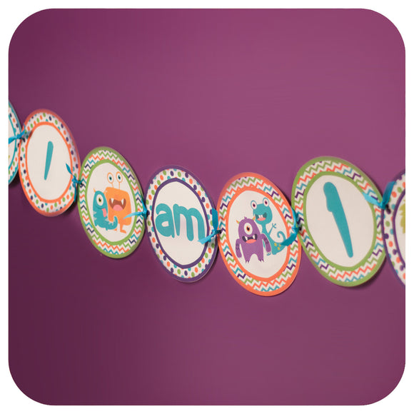 Little Monsters Deluxe Garland Banner Printable PDF