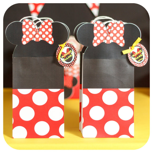 Minnie Mouse Gift Bags Printable PDF
