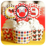 Minnie Mouse Cupcake Wrappers and Toppers Printable PDF