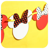Minnie Mouse Deluxe Garland Banner Printable PDF