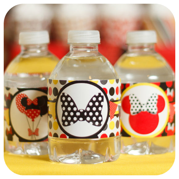 Minnie Mouse Water Bottle Wrappers Printable PDF
