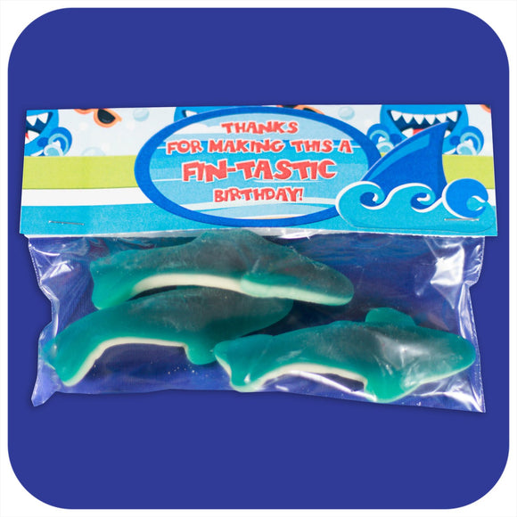Shark Favor Bag Toppers Printable PDF