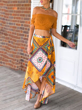 Load image into Gallery viewer, Bohemian Swallowtail Irregular Printed Skirt