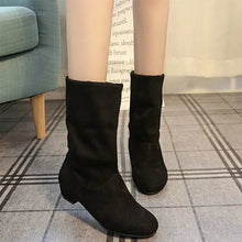 Load image into Gallery viewer, Fashion Suede Low Heel Ankle Boots