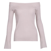 Load image into Gallery viewer, Fasion Sexy Off Shoulder Bell Sleeve Sweaters