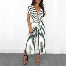 Load image into Gallery viewer, Trendy Striped Knit Casual Jumpsuit
