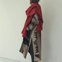 Load image into Gallery viewer, Elegant Fashion Casual Loose Print Long Sleeve Coat Long Cardigan