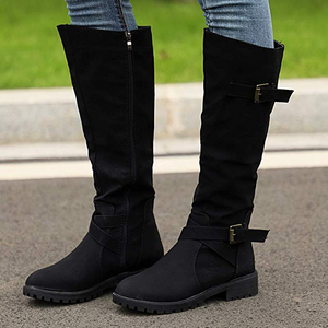 Stylish Suede Women's Long Boots