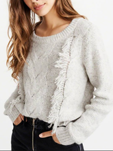 Load image into Gallery viewer, Fashion Pure Colour Tassel Round Neck Sweater