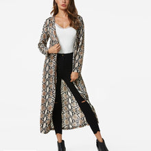 Load image into Gallery viewer, Stylish Long Serpentine Print Coat