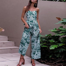 Load image into Gallery viewer, Spaghetti Strap  Backless  Print  Sleeveless Jumpsuits