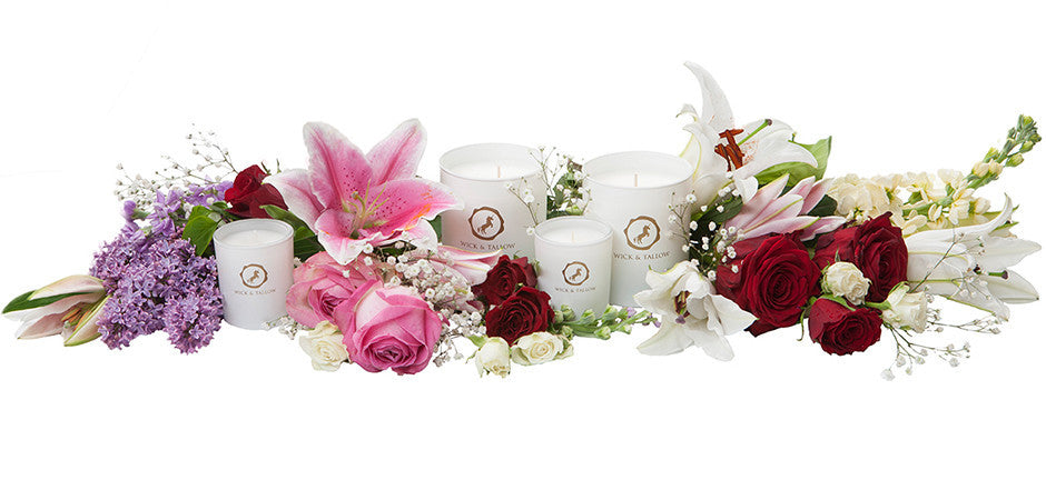 Wick & Tallow floral collection
