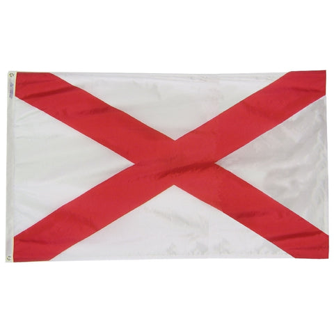 "Alabama Courtesy Flag 12"" x 18"" - ColorFastFlags 
