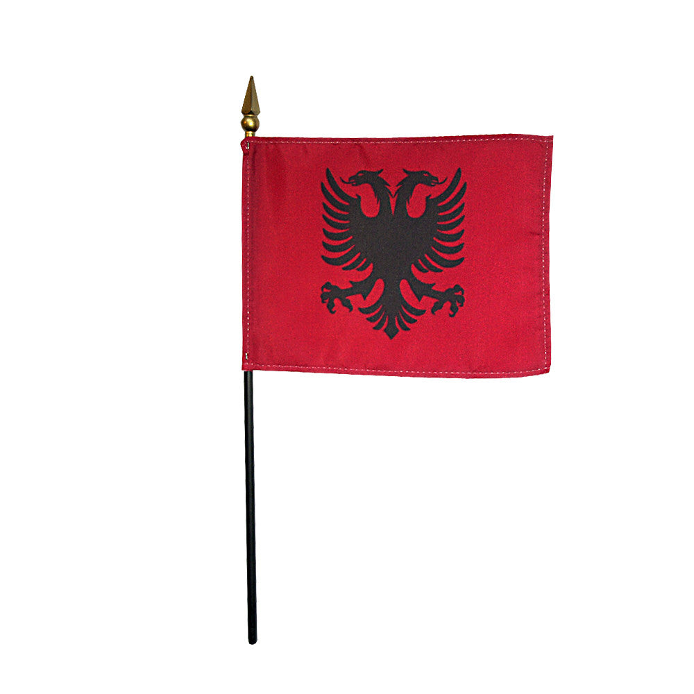 Miniature Albania Flag - ColorFastFlags | All the flags you'll ever need!