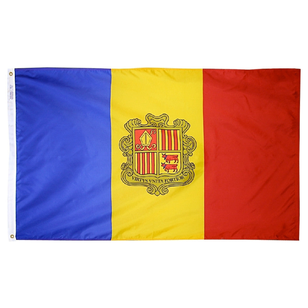 Andorra Government Flag - ColorFastFlags | All the flags you'll ever need!