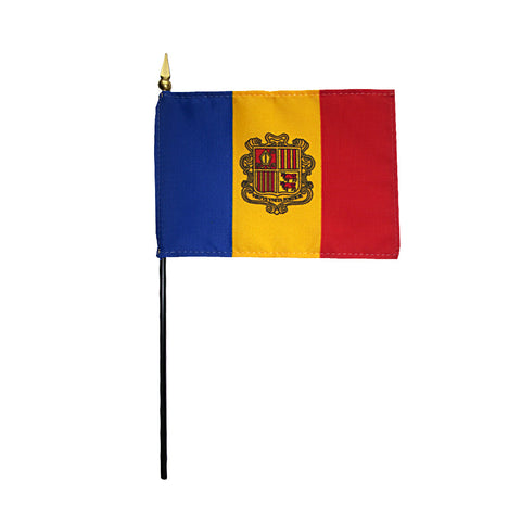 Miniature Andorra Flag - ColorFastFlags | All the flags you'll ever need!