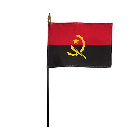 Miniature Angola Flag - ColorFastFlags | All the flags you'll ever need!