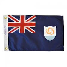 "Anguilla Courtesy Flag 12"" x 18"" - ColorFastFlags 