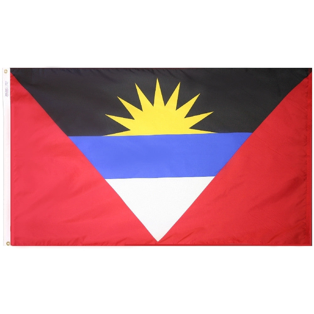"Antigua & Barbuda Courtesy Flag 12"" x 18"" - ColorFastFlags 