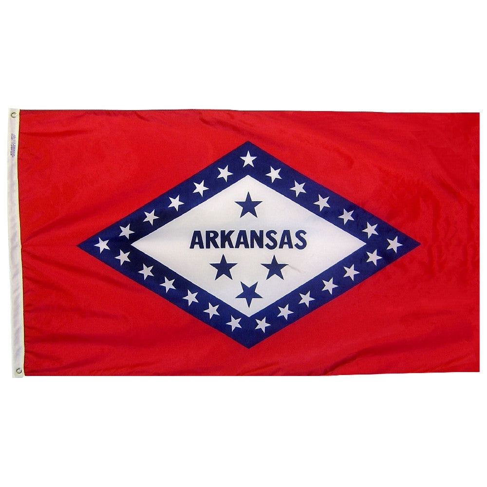 "Arkansas Courtesy Flag 12"" x 18"" - ColorFastFlags 