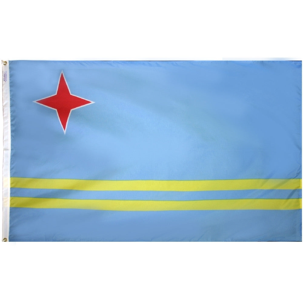 "Aruba Courtesy Flag 12"" x 18"" - ColorFastFlags 