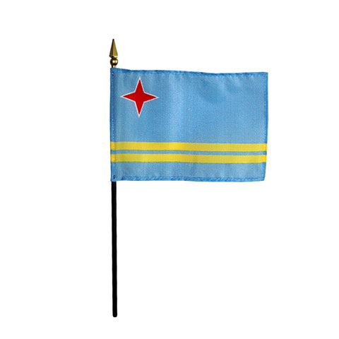 Miniature Aruba Flag - ColorFastFlags | All the flags you'll ever need!