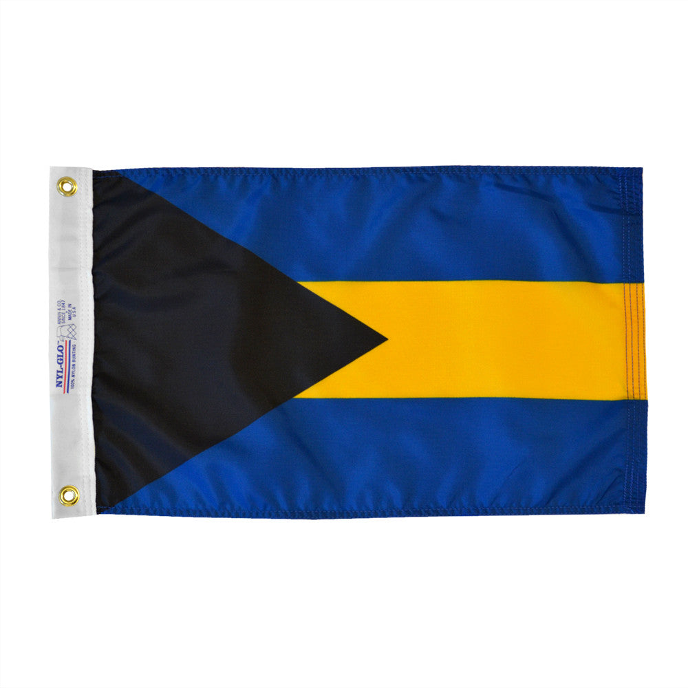 "Bahamas Courtesy Flag 12"" x 18"" - ColorFastFlags 