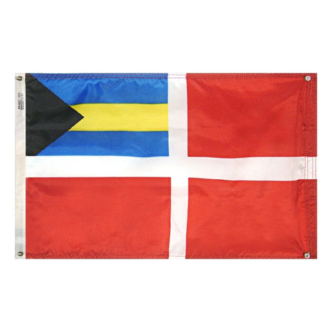 "Bahamas Merchant Courtesy Flag 12"" x 18"" - ColorFastFlags 