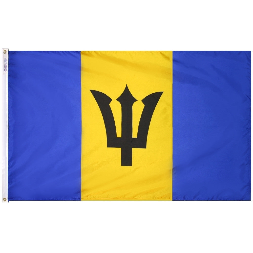 "Barbados Courtesy Flag 12"" x 18"" - ColorFastFlags 