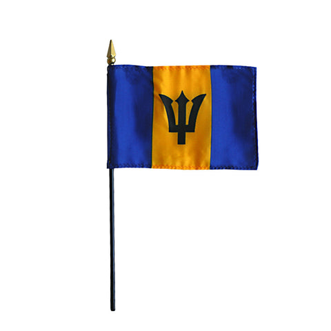 Miniature Barbados Flag - ColorFastFlags | All the flags you'll ever need!